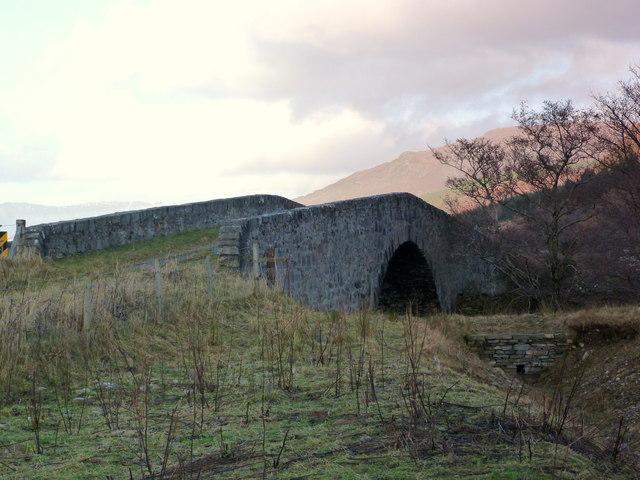 The old Inverlael bridge