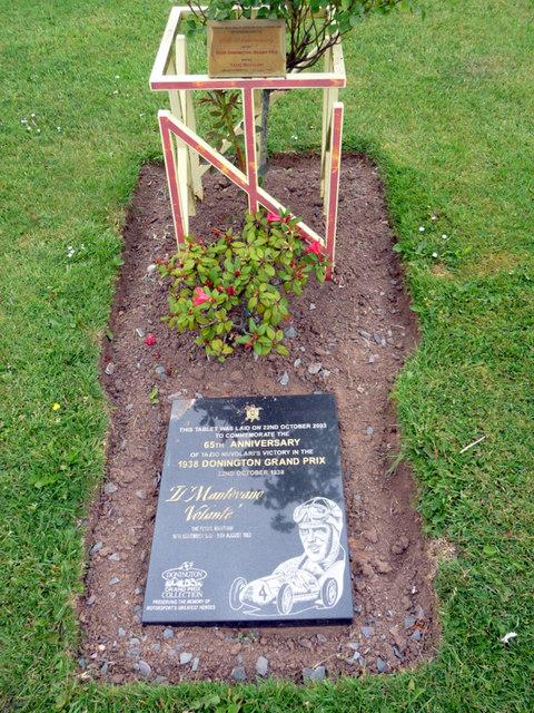 Commemorative Plaque, Donington Grand Prix Museum, Castle Donington