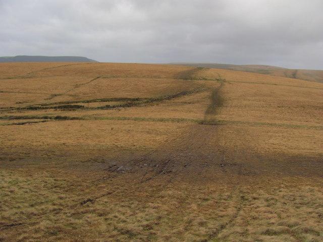 Moorland north of Pen y Foel
