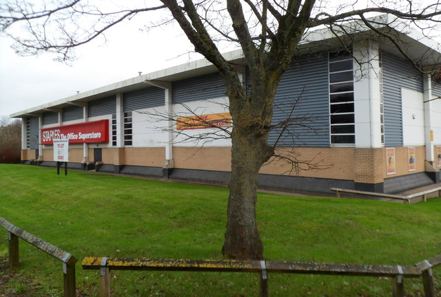 Staples superstore viewed from Western Avenue, Cardiff