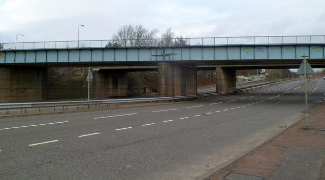Railway bridge over Western Avenue, Cardiff