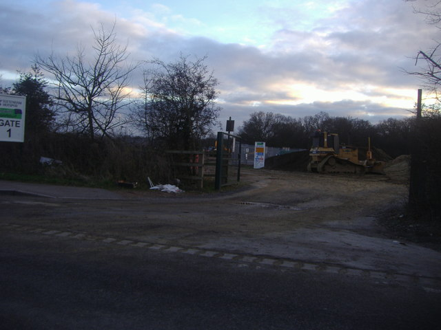 Entrance to site of Tottenham Hotspur's new training ground