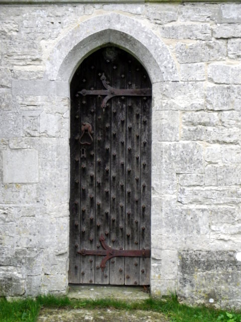 Priest's door, The Church of St Michael and All Angels
