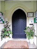 SY5889 : South door, The Church of St Michael and All Angels by Maigheach-gheal