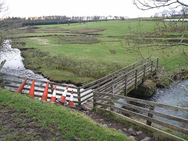 Footbridge over the River Wansbeck