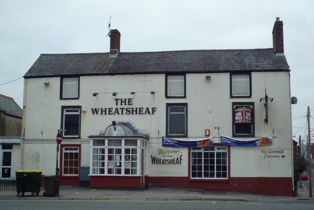 The Wheatsheaf Pub in Caerphilly taken Feb 2010