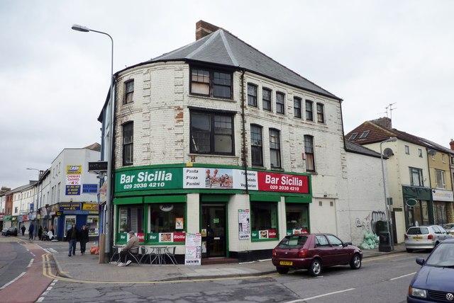 Bar Sicilia 76 Cowbridge Road east in Canton Cardiff