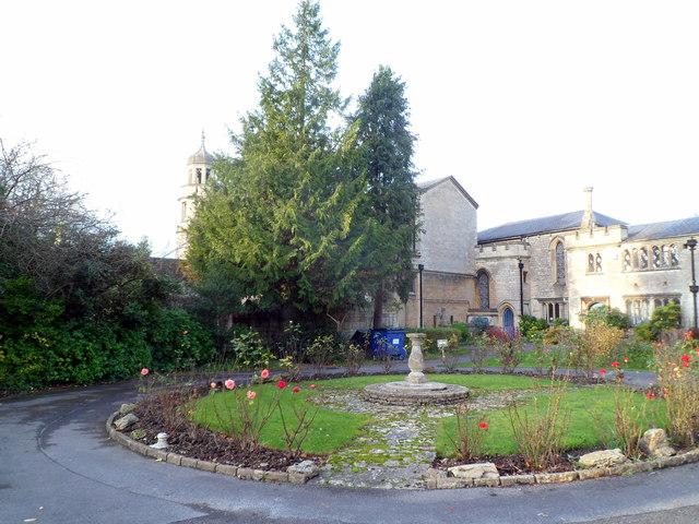 SE corner of Trowbridge United Church grounds