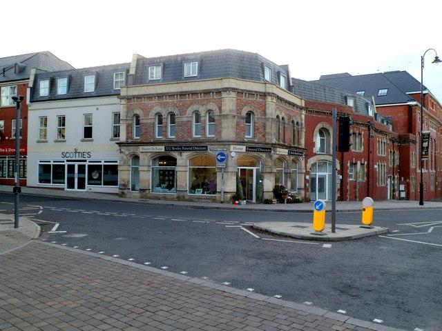 NW corner of Manvers Street, Trowbridge