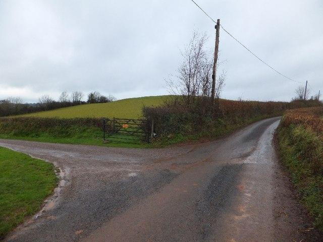 Access road to Exeland Farm