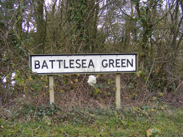 Battlesea Green Sign