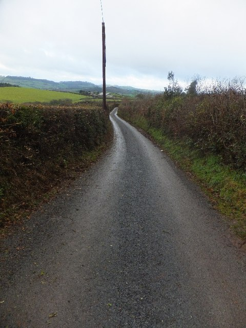 Minor road to Bickleigh