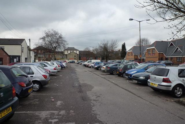 Car Park behind Cowbridge road in Canton