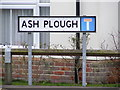 TM2274 : Ash Plough sign by Adrian Cable