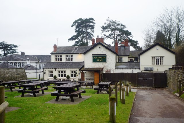 The rear of the Plymouth Arms pub in St Fagans