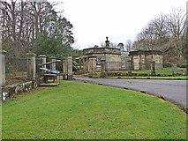 NZ1085 : Gateway and lodge to Meldon Park by Oliver Dixon