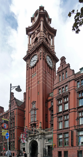 Detail of former Refuge Assurance Company, Oxford Street, Manchester (1)