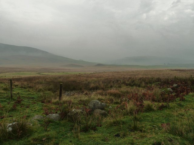 Looking towards Grobdale of Girthon on a misty day