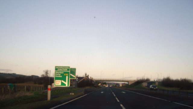 Approach to Inchmichael Junction on A90