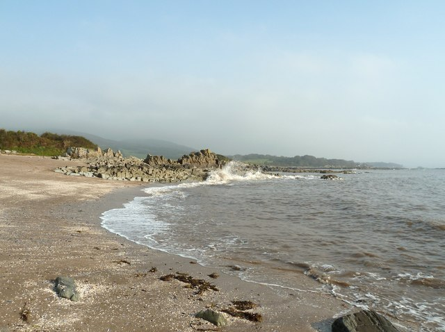 The incoming tide at White Bay
