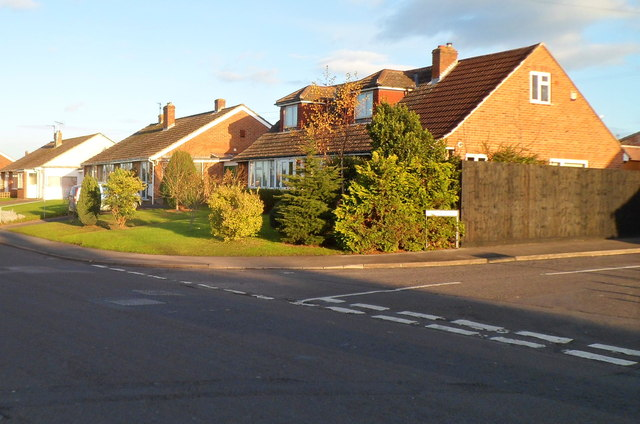 Seymour Road houses near the corner of Palmer Road, Trowbridge