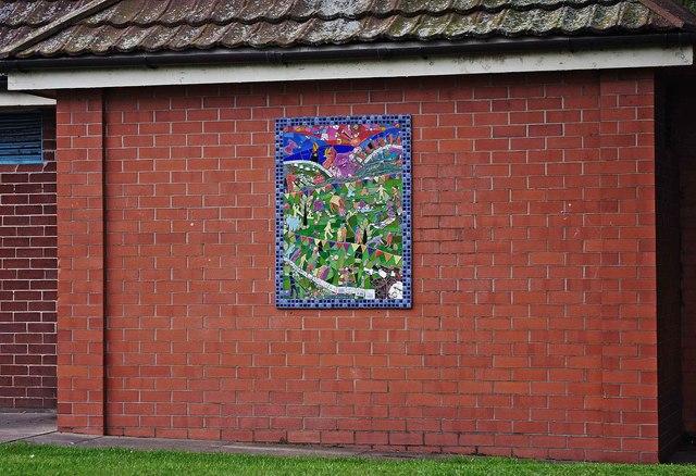 Mosaic at Wem Recreation Ground, Aston Street, Wem