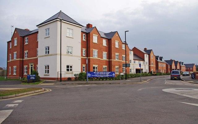 New housing at Isherwoods Way, Wem