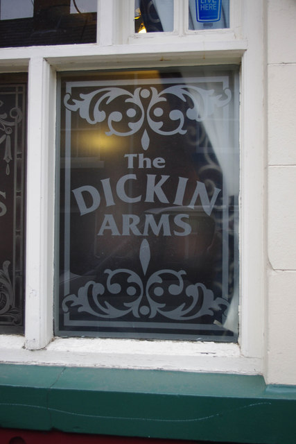 The Dickin Arms (2) - detail, 37 Noble Street, Wem
