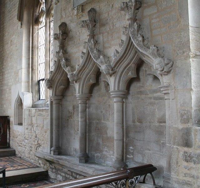 14th Century Sedilia, Ss Peter & Paul church, Osbournby