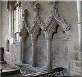 TF0638 : 14th Century Sedilia, Ss Peter & Paul church, Osbournby by J.Hannan-Briggs