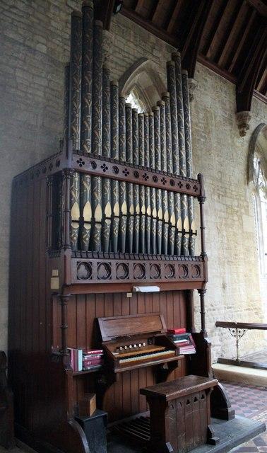 Organ in Osbournby church