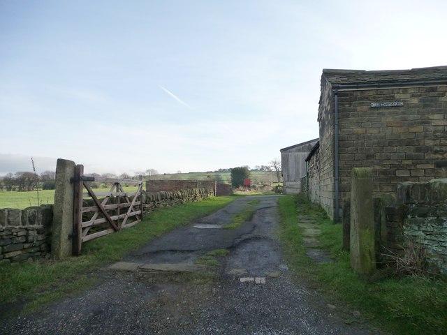 Footpath at Birk House Farm