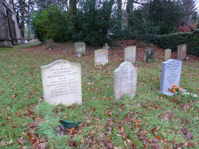 Graves in East Tisted Churchyard