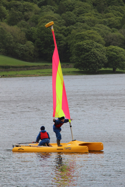 Sailing on Windermere, Cumbria