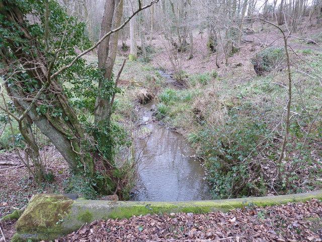 Stream passing under Perymans Lane