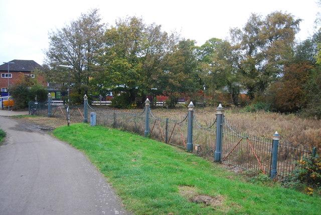 Ornate fence near Farnborough North Station