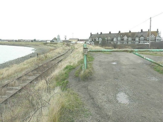 The railway to Rushenden Pier