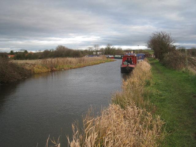 Wintering boats at Clayworth