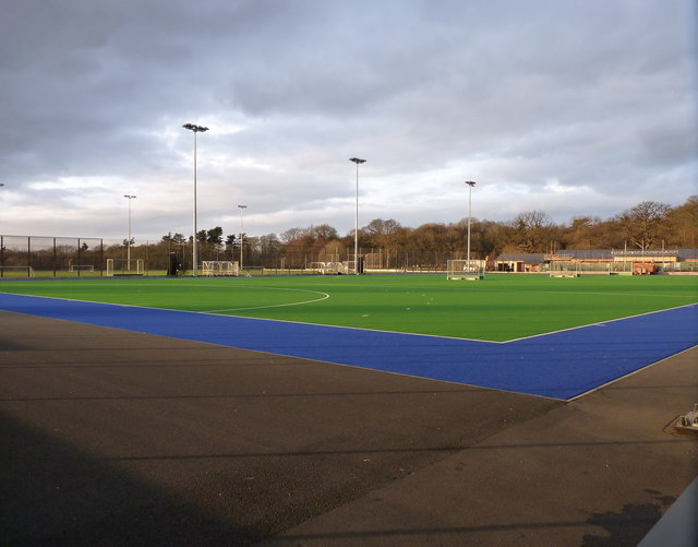 Artificial hockey pitches at the National Sports Centre