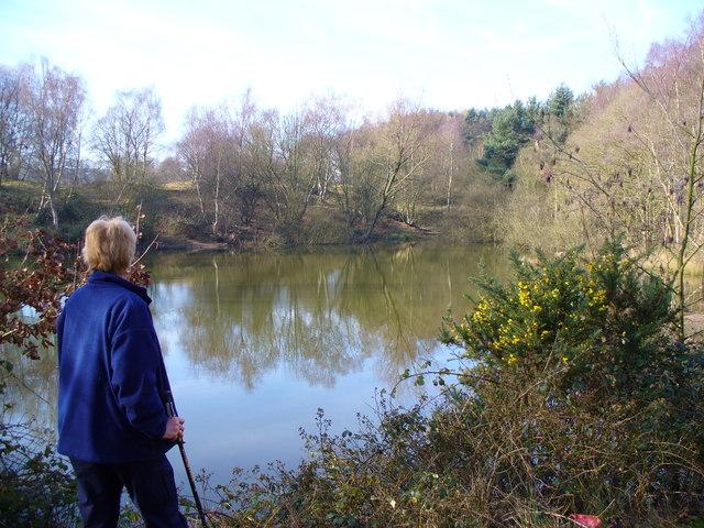 Fishing pool Trentham Park