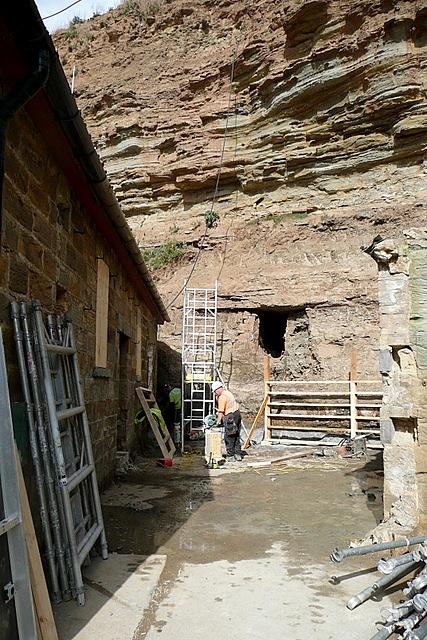 Construction below Cowbar Nab