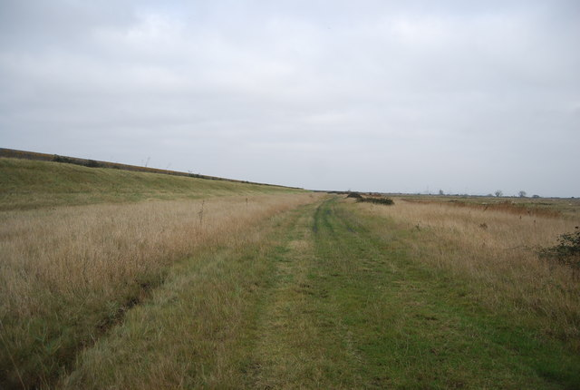 Footpath below the sea wall