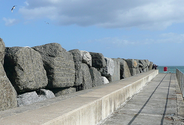 Staithes northern breakwater