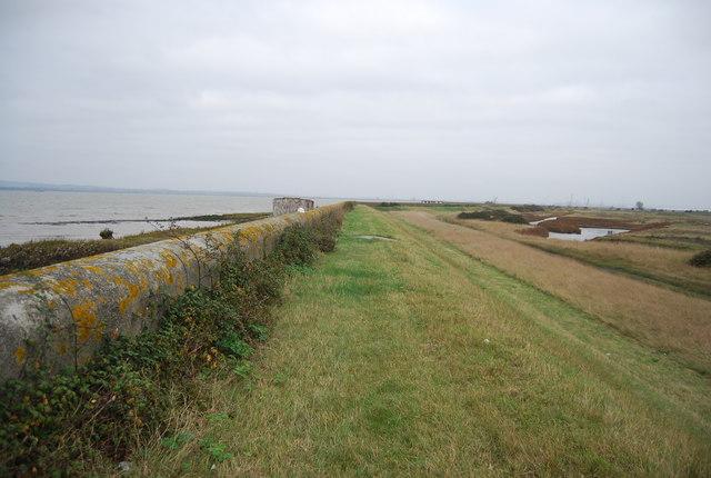 Flood wall and embankment