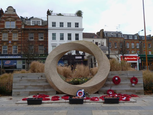 War Memorial, Islington Green Gardens, Upper Street N1