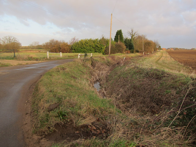 Ditch by Basil Road