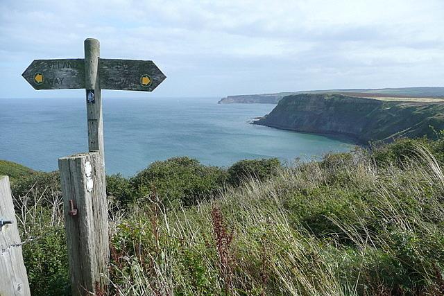 Finger post overlooking Port Mulgrave