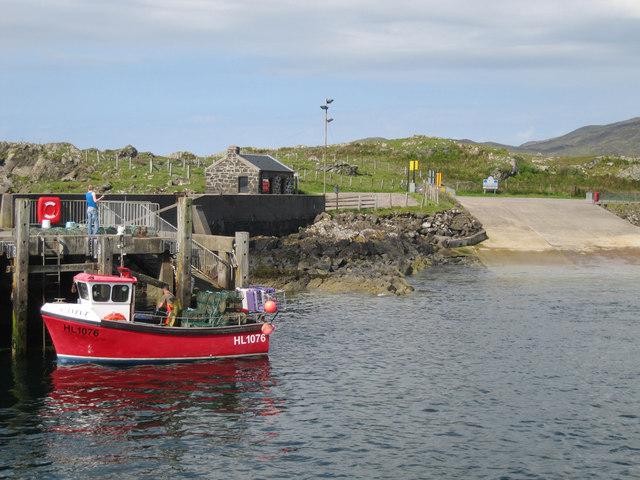Fishing boat at Mingary Pier