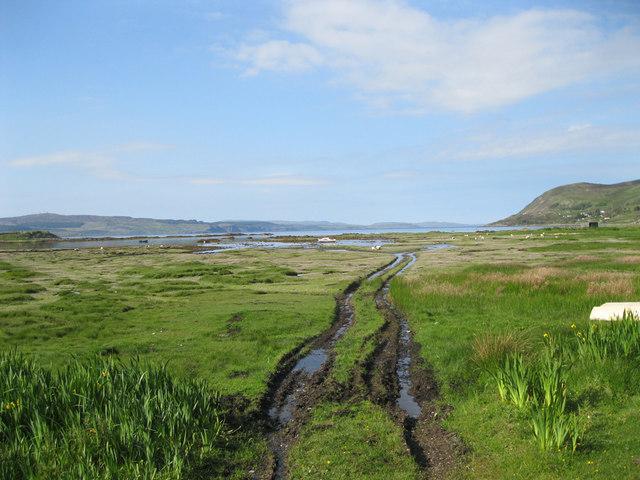Muddy track to Kilchoan Bay