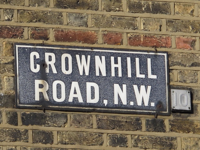 Sign for Crownhill Road, NW10